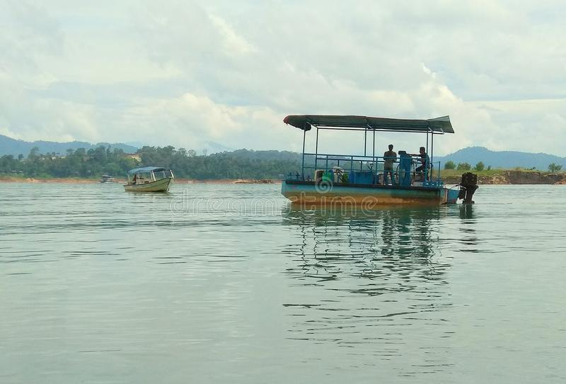 Mini Platform Supply Vessel Motorized Fuel Barge stock photos