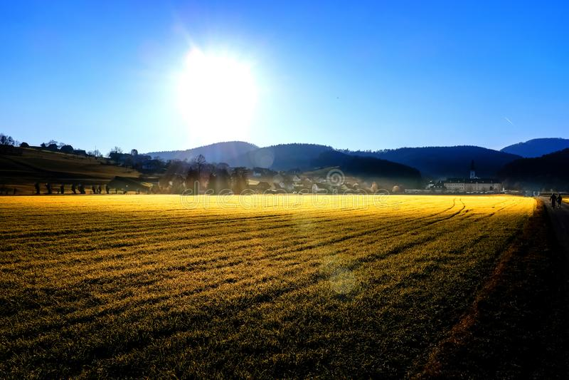 Mild winter sun stock photography