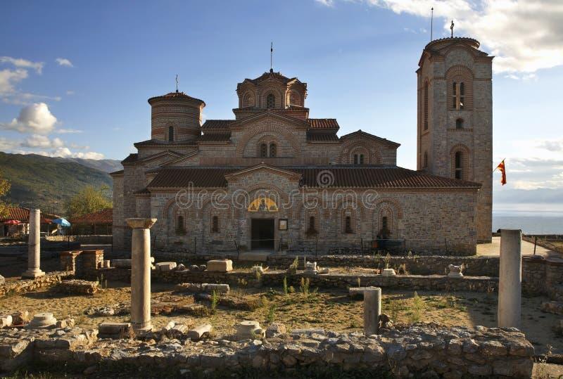 Milde kerk van St en St Panteleimon in Ohrid macedonië stock fotografie