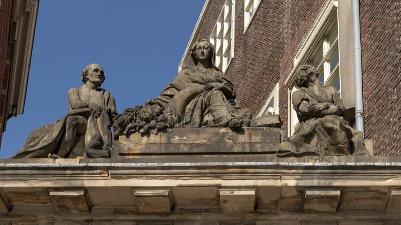 'Mildness med armod och gamling 'vid Antony Ziesenis, Oudemanhuispoort, universitet av Amsterdam, Nederländerna fotografering för bildbyråer