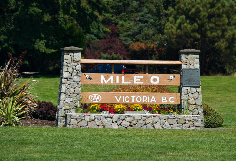 Download Mile 0, The Beginning Of Highway 1 In Victoria BC, Canada Stock Image - Image: 36989123
