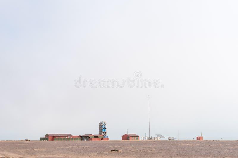 Mile-108 Campsite między Ugabmund i Henties zatoką zdjęcia stock