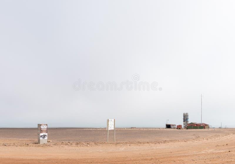 Mile-108 Campsite między Ugabmund i Henties zatoką obrazy royalty free