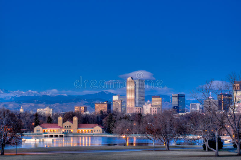 Mile High City of Denver royalty free stock images
