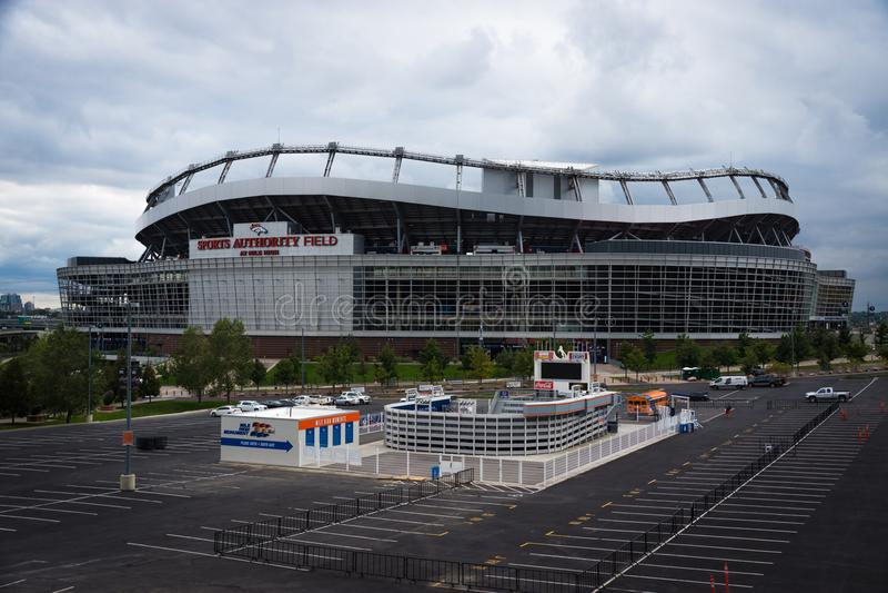 Mile High Stadium, Denver, Colorado fotografie stock libere da diritti