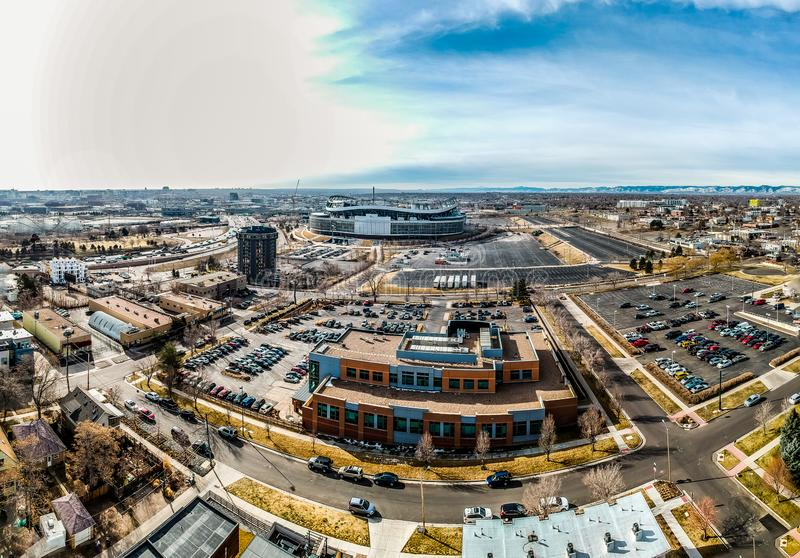 Mile High Stadium i Denver Colorado fotografia royalty free