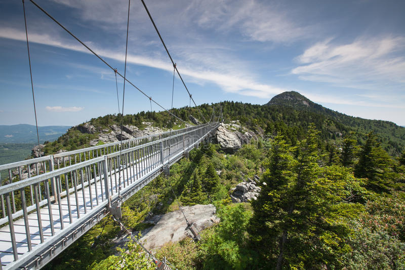 Mile High Swinging Bridge Linville NC royalty free stock images