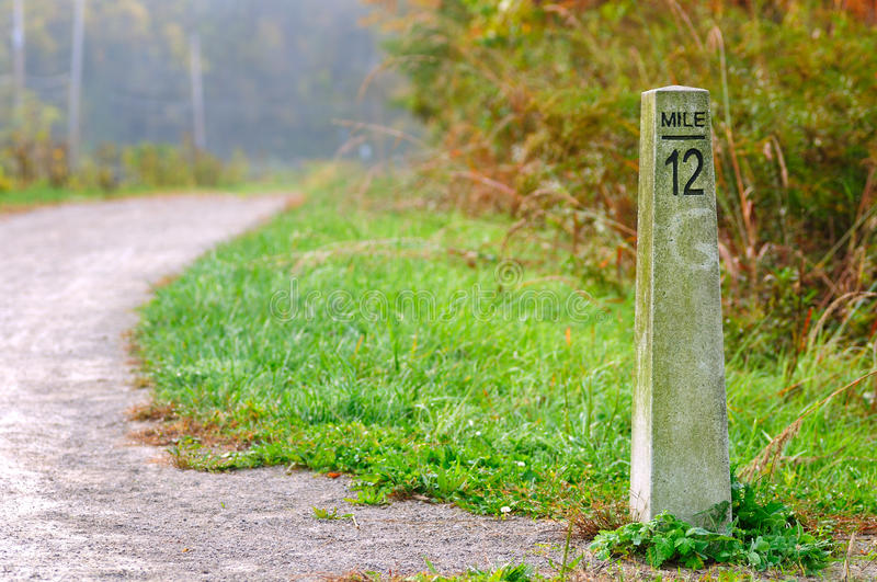 Mile marker royalty free stock image