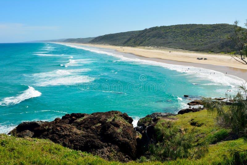 40-mile plaża w Wielkim Piaskowatym parku narodowym w Australia obraz royalty free
