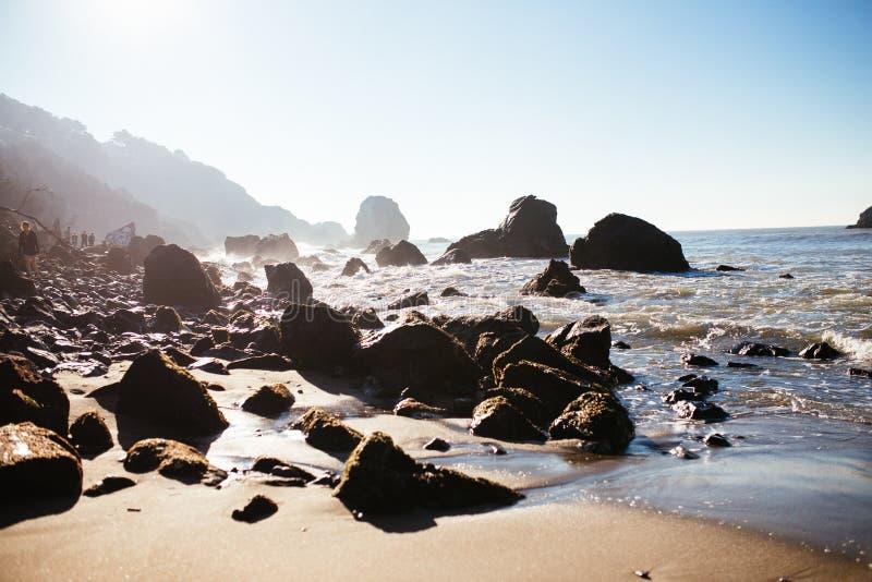 Mile Rock Beach stock image