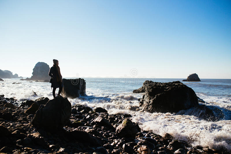 Mile Rock Beach royalty free stock photography