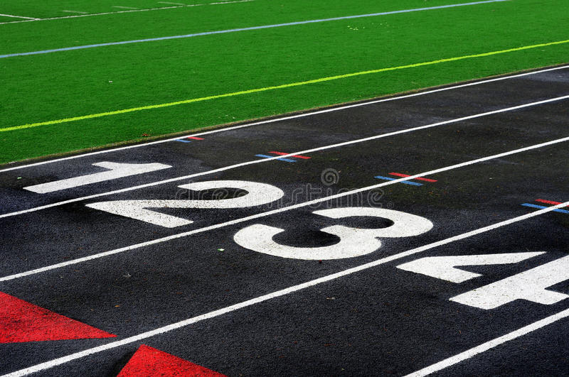 Mile Run Track royalty free stock images