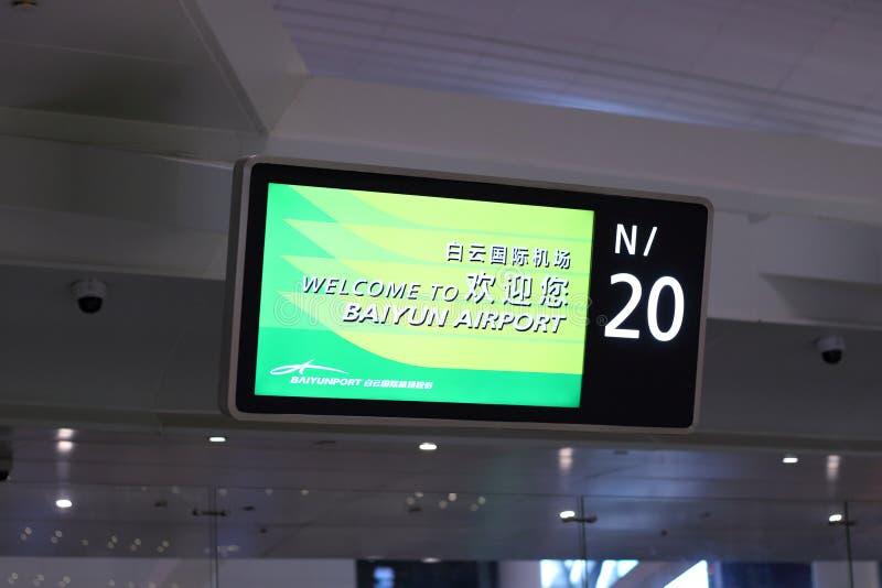 Mile widziany inskrypcja na ewidencyjnej desce przy lotniskiem obrazy royalty free