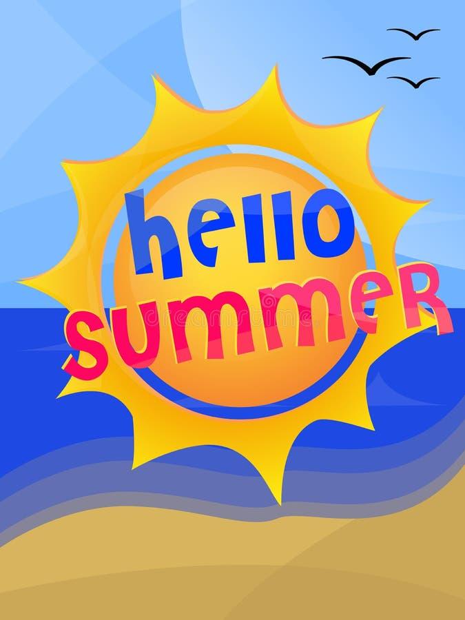 Download Mile Widziany Lato Sun I Morze Ilustracja Wektor - Ilustracja złożonej z plaża, roczniki: 57652939