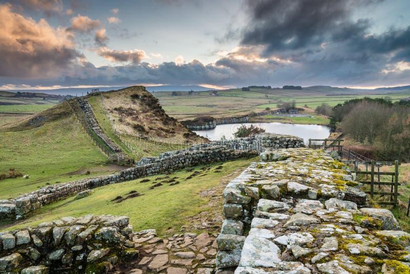 Milecastle 42 en la pared de Hadrian imagen de archivo libre de regalías