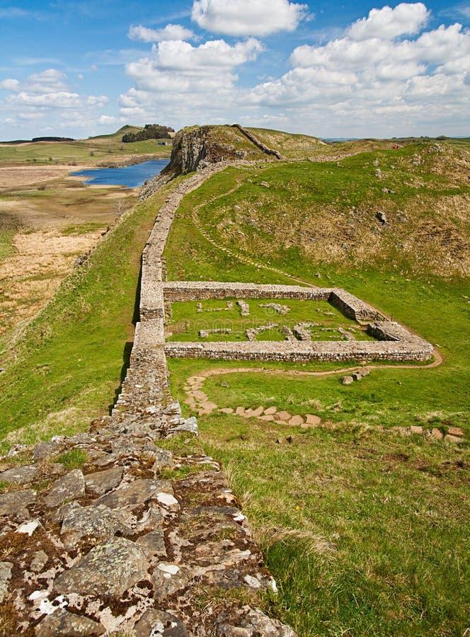 Milecastle 39 na parede de Hadrians imagem de stock royalty free