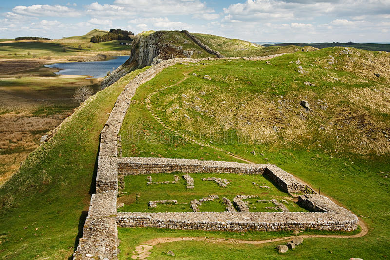 Milecastle 39 op Hadrians-Muur royalty-vrije stock foto