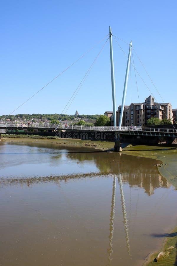 Milenium, charcica przerzuca most Rzecznego Lune Lancaster obrazy stock