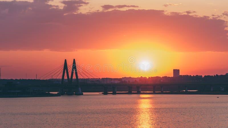 Milenium most w Kazan, Rosja zdjęcie royalty free