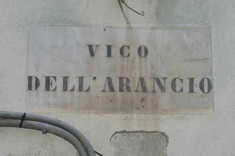 Milepost de Gênes images stock