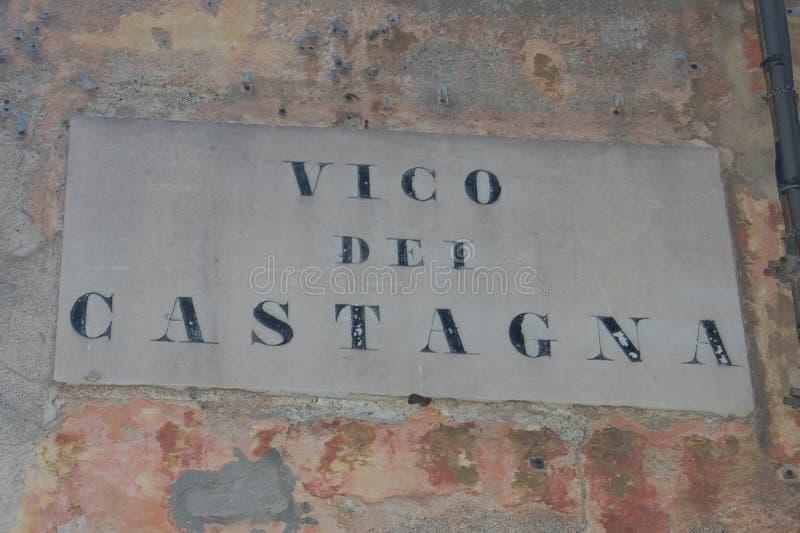 Milepost de Gênes photographie stock libre de droits