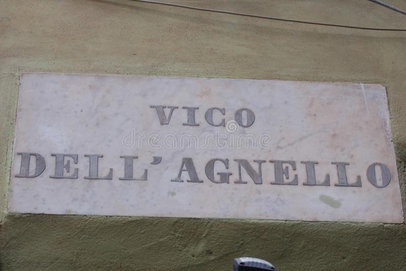Milepost de Gênes photo stock