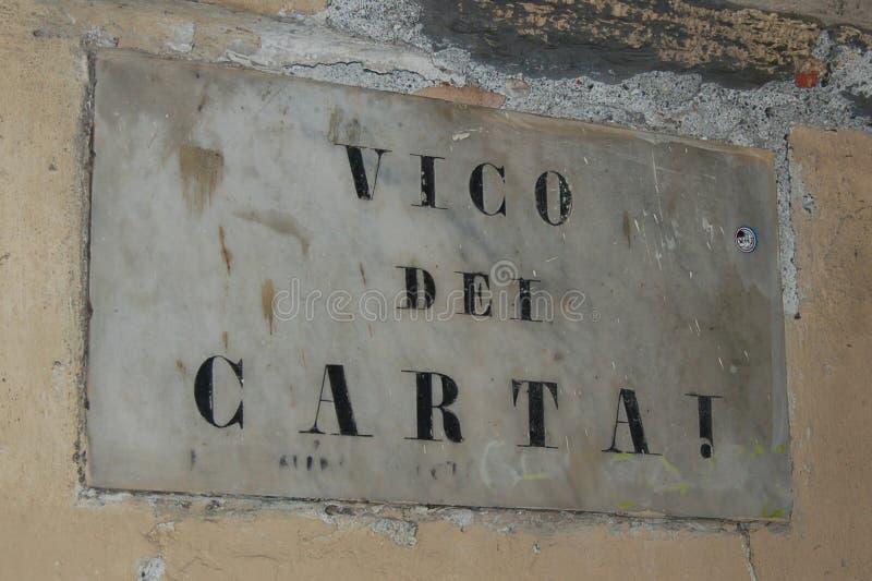 Milepost de Gênes images libres de droits