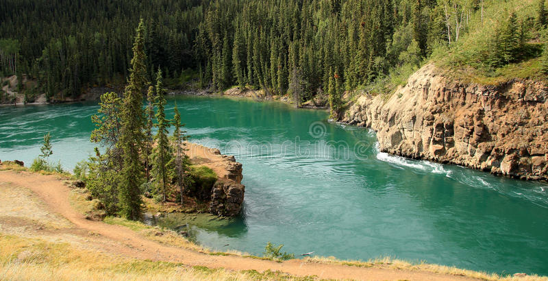 Miles Canyon Whitehorse, Yukon, Kanada royaltyfri bild