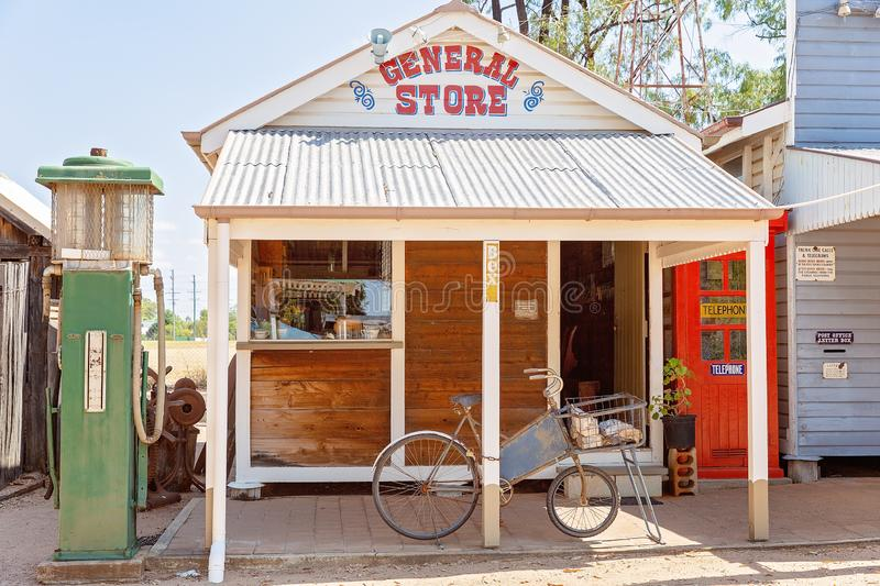General Store At Miles Museum And Historical Village. MILES, QUEENSLAND, AUSTRALIA - January 25th 2019: Miles Historical Village And Museum general store stock photo
