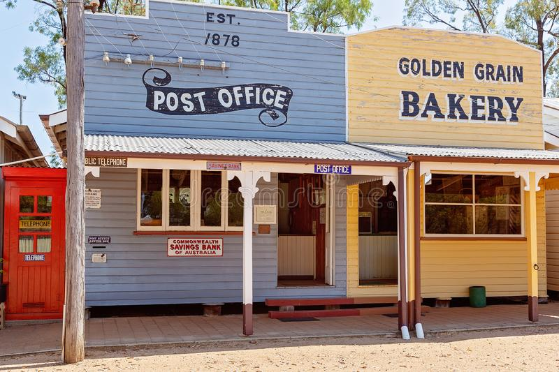 Post Office At Miles Museum And Historical Village. MILES, QUEENSLAND, AUSTRALIA - January 25th 2019: Miles Historical Village And Museum post office building stock images