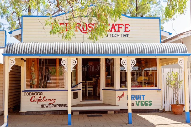 Cafe At Miles Museum And Historical Village. MILES, QUEENSLAND, AUSTRALIA - January 25th 2019: Miles Historical Village And Museum cafe stock photo