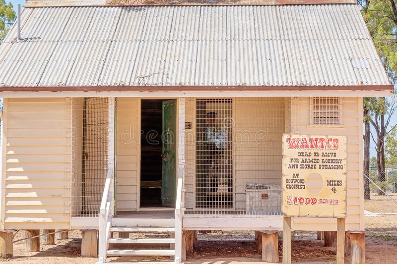 Jail House At Miles Museum And Historical Village. MILES, QUEENSLAND, AUSTRALIA - January 25th 2019: Miles Historical Village And Museum local jail stock photo