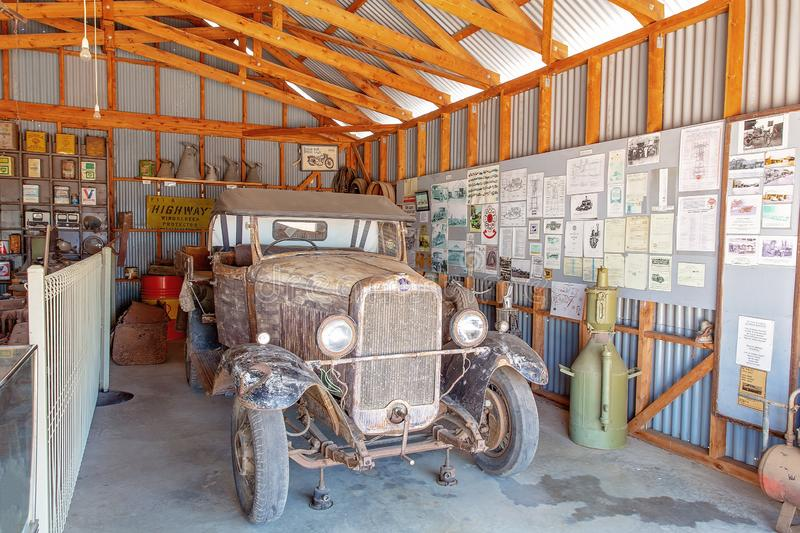 Vintage Car At Miles Museum And Historical Village. MILES, QUEENSLAND, AUSTRALIA - January 25th 2019: Miles Historical Village And Museum vintage car royalty free stock photography