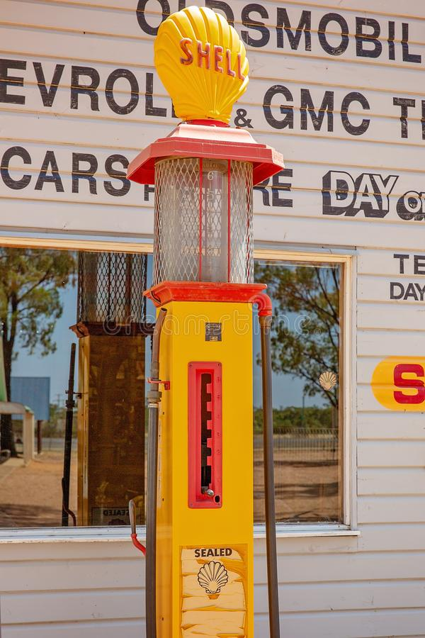Vintage Petrol Pump At Miles Museum And Historical Village royalty free stock photography