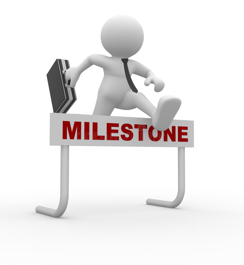 Milestone vector illustration