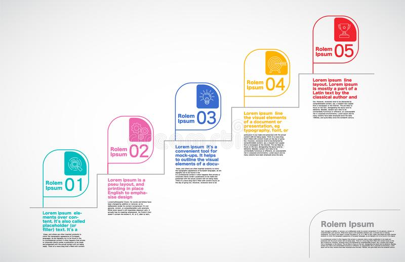 Milestone Company, Infographic-Vektor, Schaltplandesignschablone vektor abbildung