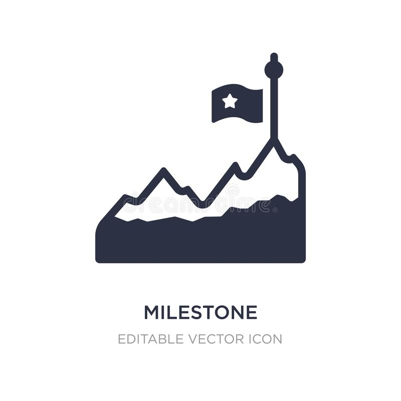 milestone icon on white background. Simple element illustration from Other concept vector illustration
