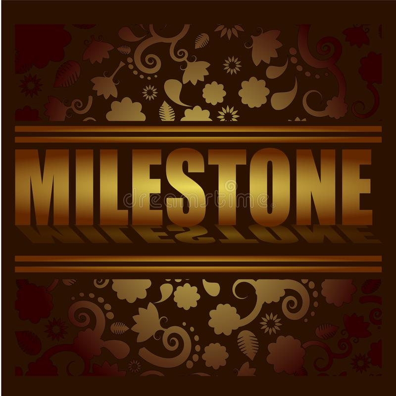 Milestone illustration. Gold colors concept background vector illustration