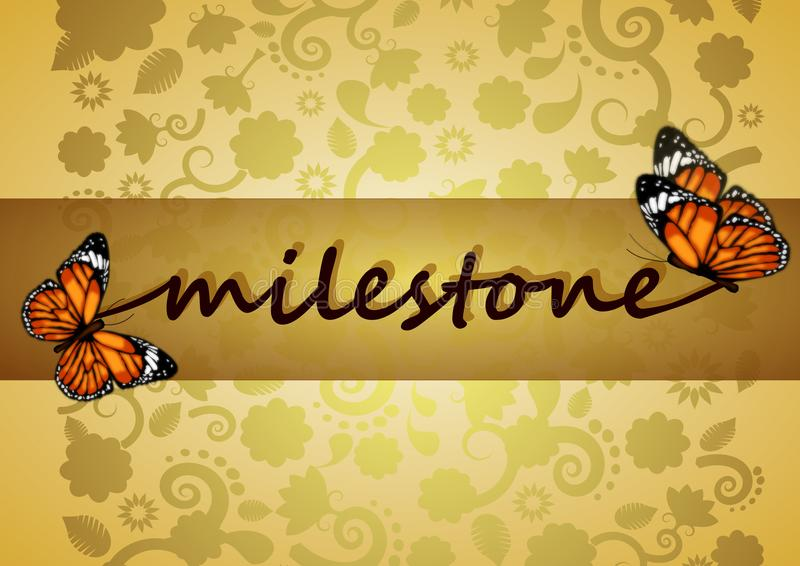 Milestone illustration. Gold colors concept background royalty free illustration
