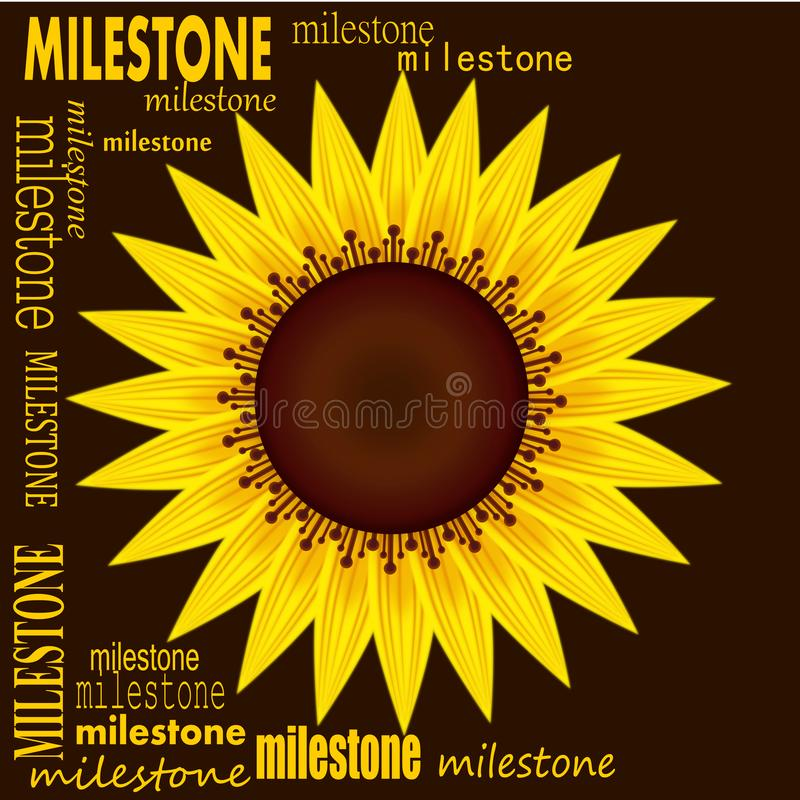 Milestone illustration. Gold colors concept background stock illustration