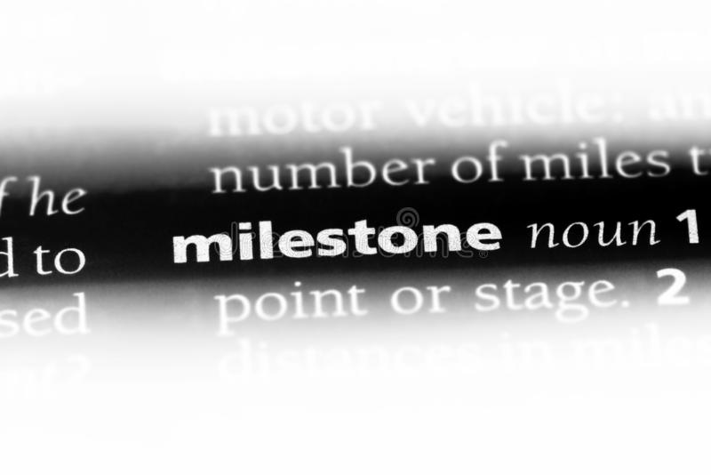 milestone stock photo