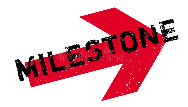 Milestone rubber stamp. Grunge design with dust scratches. Effects can be easily removed for a clean, crisp look. Color is easily changed stock illustration