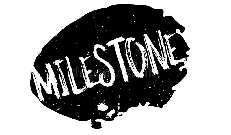 Milestone rubber stamp. Grunge design with dust scratches. Effects can be easily removed for a clean, crisp look. Color is easily changed royalty free illustration