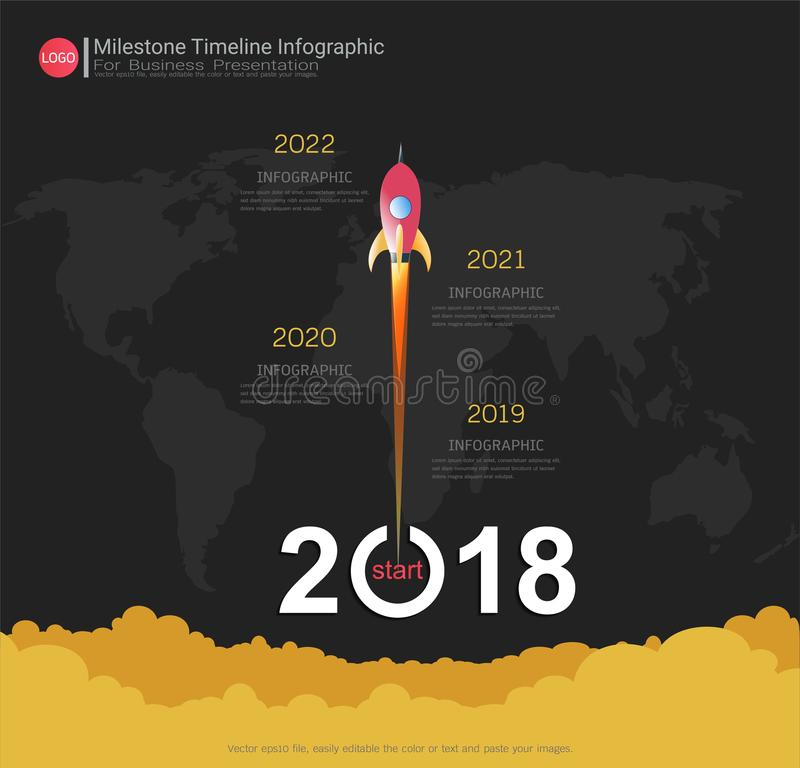 Milestone timeline infographic design. royalty free illustration