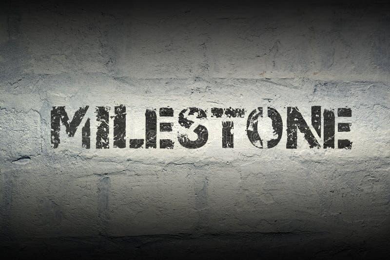Milestone WORD GR royalty free stock photography