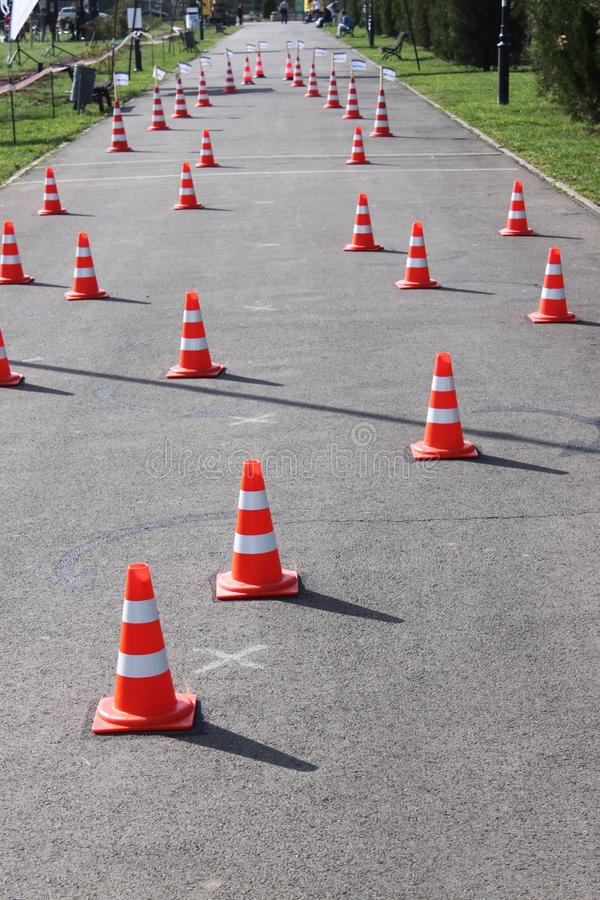 Download Road Cones With Reflective Band Stock Photo - Image: 26895206