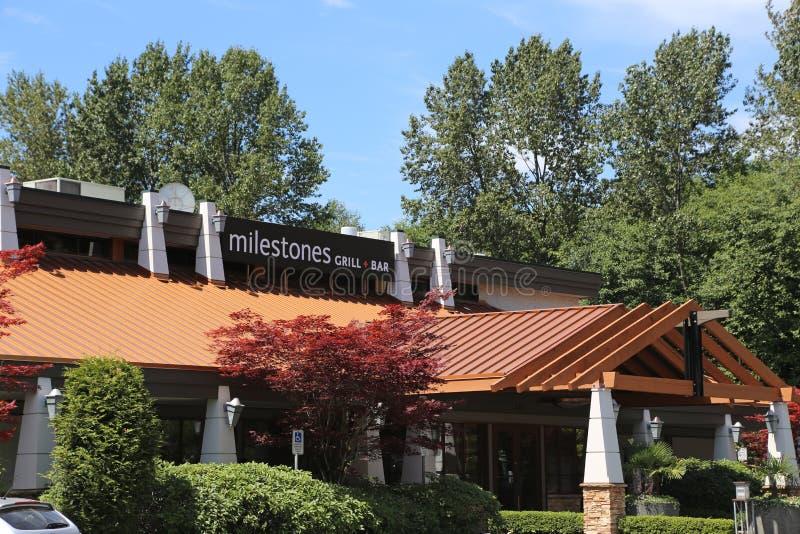 Milestones restaurant stock photo