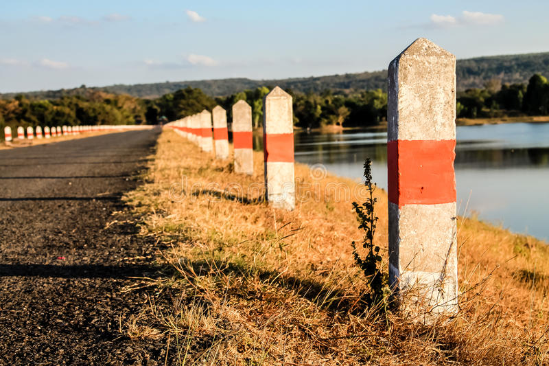The Milestones. Beside the road of memory royalty free stock photo