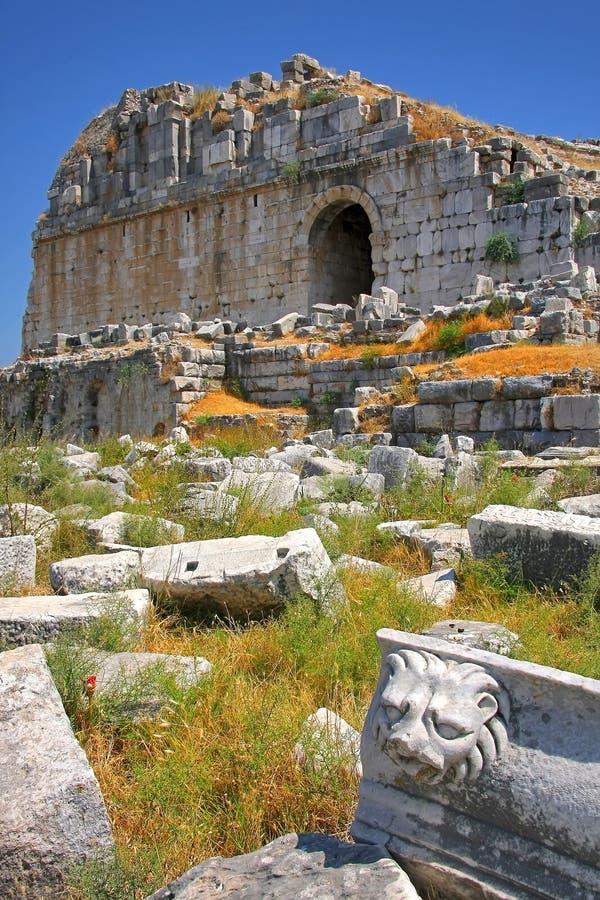 Milet amphiteater stock photography