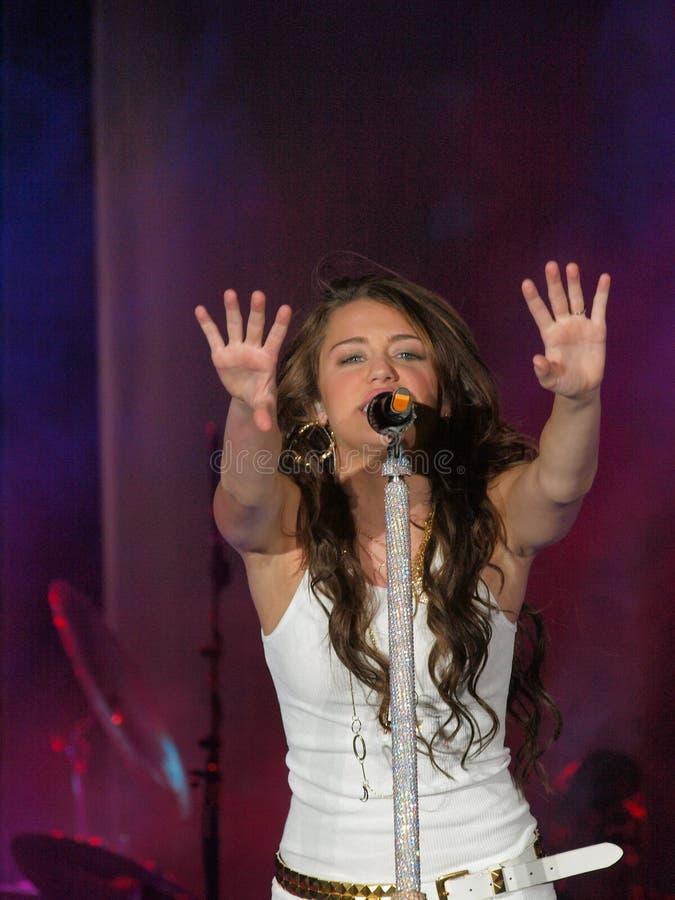 Miley Cyrus 07 imagens de stock
